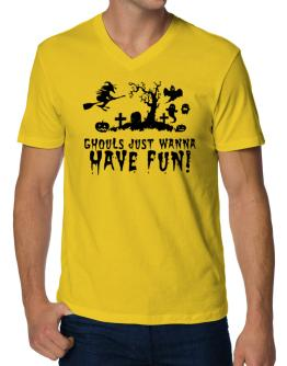 Ghouls just wanna have fun! V-Neck T-Shirt