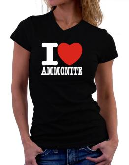 I Love Ammonite T-Shirt - V-Neck-Womens