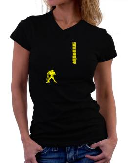 Aquarius - Silhouette T-Shirt - V-Neck-Womens