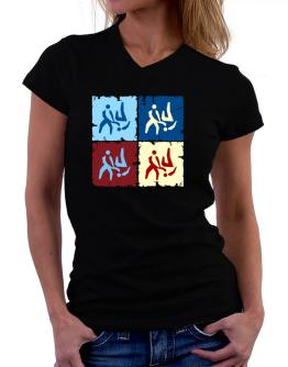 Aikido - Pop Art T-Shirt - V-Neck-Womens