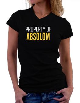 Property Of Absolom T-Shirt - V-Neck-Womens