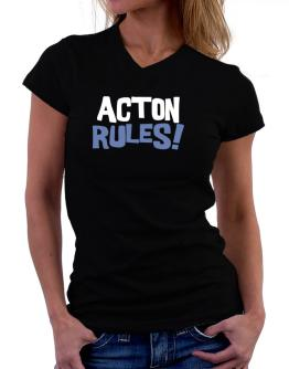 Acton Rules! T-Shirt - V-Neck-Womens