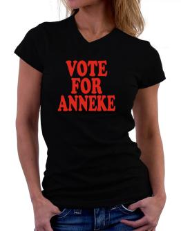 Vote For Anneke T-Shirt - V-Neck-Womens
