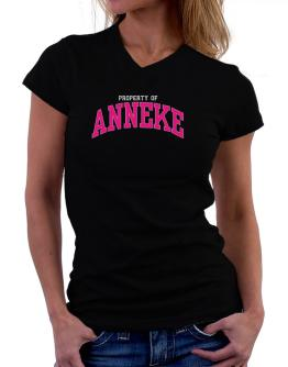 Property Of Anneke T-Shirt - V-Neck-Womens