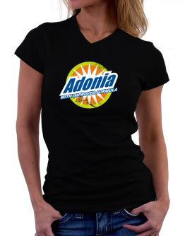 Adonia - With Improved Formula T-Shirt - V-Neck-Womens