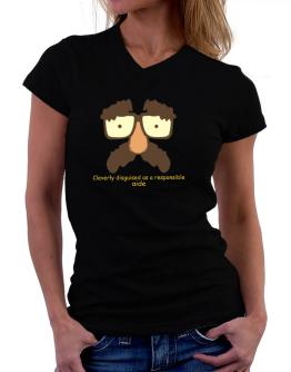 Cleverly Disguised T-Shirt - V-Neck-Womens
