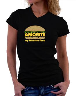 Amorite My Favorite Food T-Shirt - V-Neck-Womens
