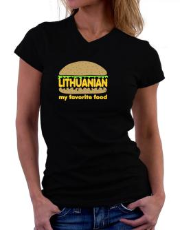 Lithuanian My Favorite Food T-Shirt - V-Neck-Womens