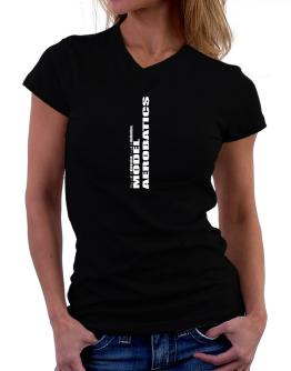 Model Aerobatics Dedication Model Aerobatics T-Shirt - V-Neck-Womens