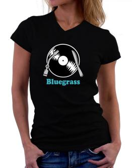 Bluegrass - Lp T-Shirt - V-Neck-Womens