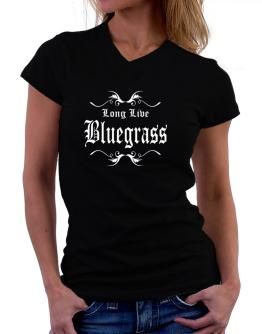 Long Live Bluegrass T-Shirt - V-Neck-Womens