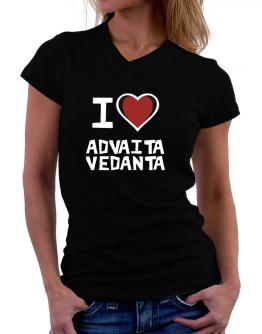 I Love Advaita Vedanta T-Shirt - V-Neck-Womens