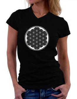 Flower of life geometry T-Shirt - V-Neck-Womens