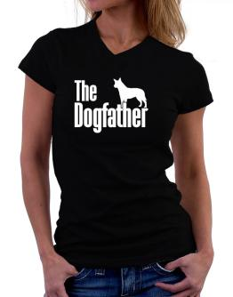 The dogfather Australian Cattle Dog T-Shirt - V-Neck-Womens