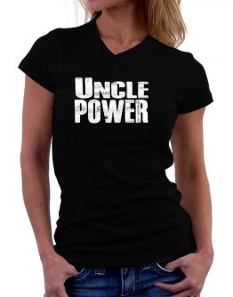 Auncle power T-Shirt - V-Neck-Womens