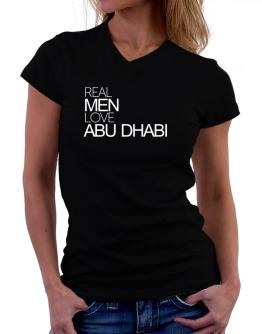 Real men love Abu Dhabi T-Shirt - V-Neck-Womens