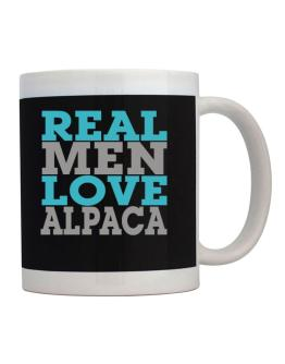 Real Men Love Alpaca Mug