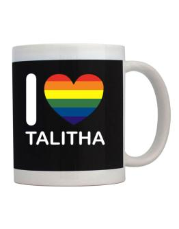 I Love Talitha - Rainbow Heart Mug