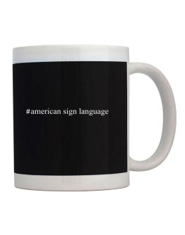 #American Sign Language - Hashtag Mug