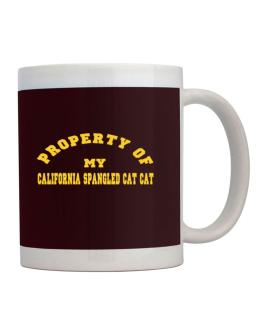 Property Of My California Spangled Cat Mug