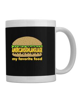 American Sign Language My Favorite Food Mug