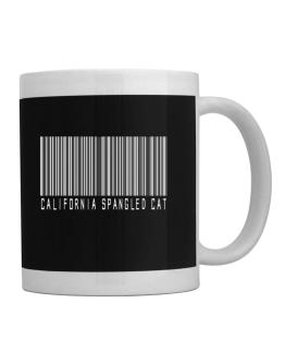 California Spangled Cat Barcode Mug