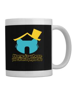 Home Is Where California Spangled Cat Is Mug