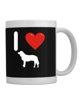 I love Polish Tatra Sheepdog Silhouette Mug