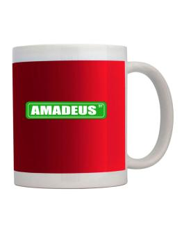Amadeus Street men names sign 3 Mug