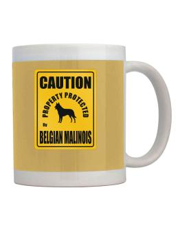 New Protected By Belgian Malinois Parking Sign Mug