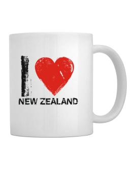 Taza de I Love New Zealand - Vintage