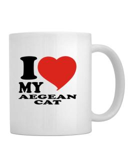 I Love My Aegean Cat Mug