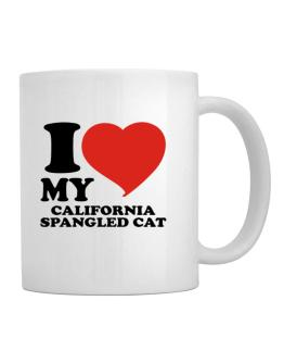 I Love My California Spangled Cat Mug