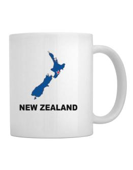 Taza de New Zealand - Country Map Color