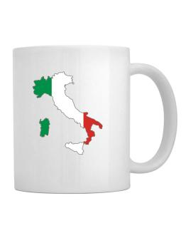 Taza de Italy - Country Map Color Simple
