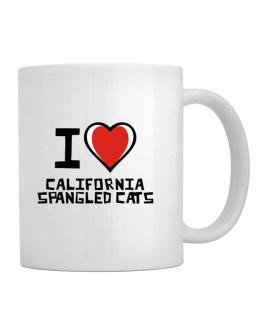 I Love California Spangled Cats Mug