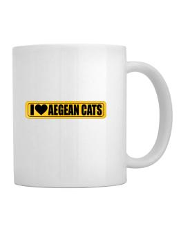 I Love Aegean Cats Mug