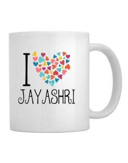 I love Jayashri colorful hearts Mug