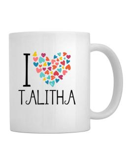 I love Talitha colorful hearts Mug