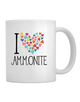 I love Ammonite colorful hearts Mug