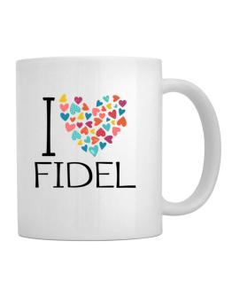 I love Fidel colorful hearts Mug