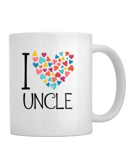 I love Auncle colorful hearts Mug