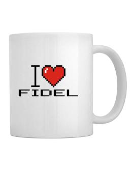 I love Fidel pixelated Mug
