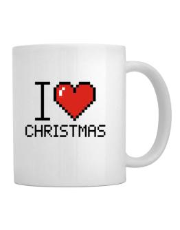 I love Christmas pixelated Mug