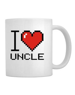 I love Auncle pixelated Mug