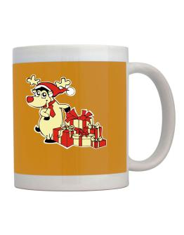 Reindeer and gifts Mug