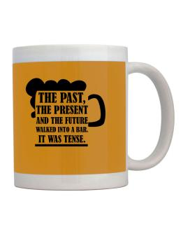 The past, the present, and the future walk into a bar Mug