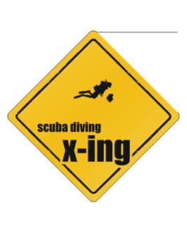 Scuba Diving X-ing Crossing Sign