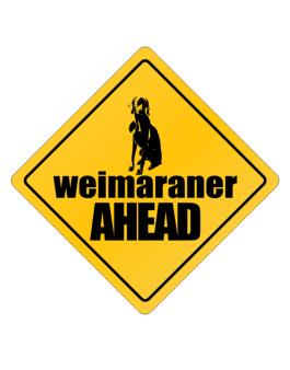 Crossing Sign de Weimaraner Bites Ahead !