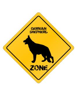 Crossing Sign de German Shepherd Zone - Silhouette